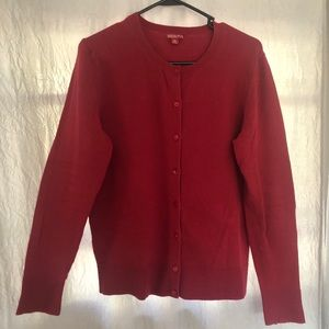 MERONA Button Up Red Cardigan